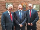 (L-r) Paul Gooding - Vitax's chairman with new board director Andy Gurney & Carl Welsh - Vitax's md.