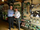 Andy Burton (right) receives the 'Agent of the Year' award from operations director, Tony Dedman
