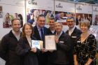 GIMA's Steve Millington (3rd Left) and Vicky Nuttall (R) with last years winners.