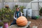 Laura Oakes and her winning pumpkin