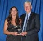 Robert Hillier with Ruth Rook, Employee of the Year