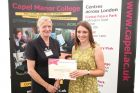 Sian Davis receives her GCA Trust award from Carol Paris, Chief Executive of the HTA