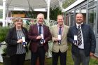 L-r: Sheila Jackson, Andy Johnson, Chris Mason & John Sockett with their bronze medals for 30 years