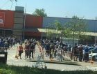 Queues at B&Q when they reopened