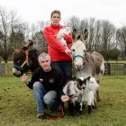 Rob Scott with Andrea Burlingham with some of the animals the centre needs to find homes for because